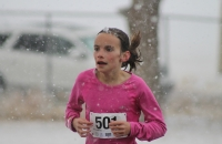 Ten-year-old Paige Curtis takes second place overall in the women's division of the Wild Goose Chase 5K. Her time was 21:42.8.